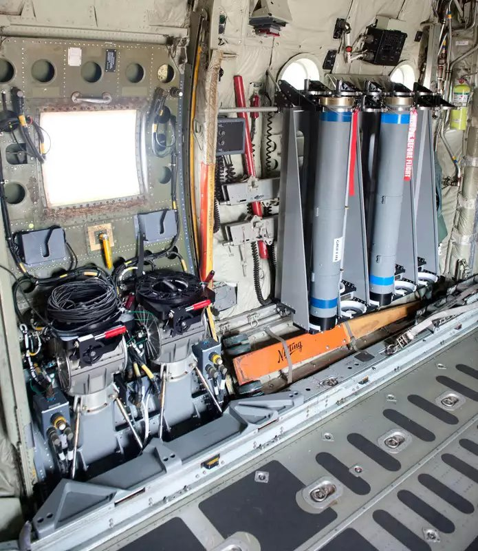 The inside of the Derringer door KC-130